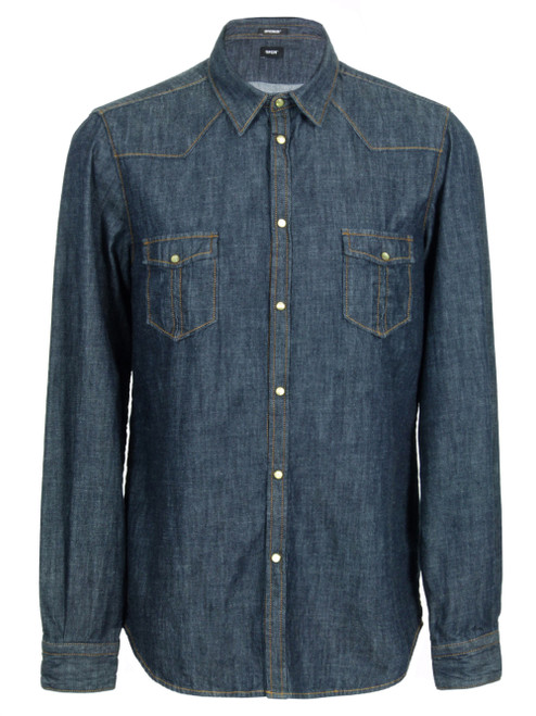 OFFICINA 36 Long Sleeve Denim Shirt