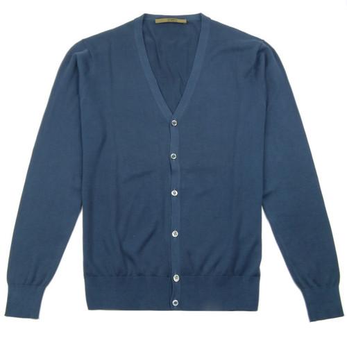 UNGARO Men's Cotton Cardigan (Blue)