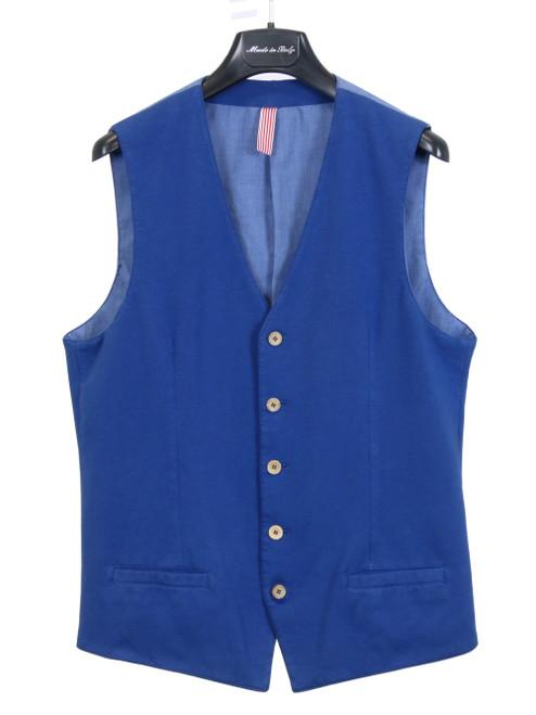 PORFIRIO RUBIROSA Blue Casual Vest