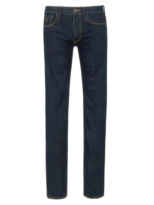 EMPORIO ARMANI Dark Denim Men's Jeans