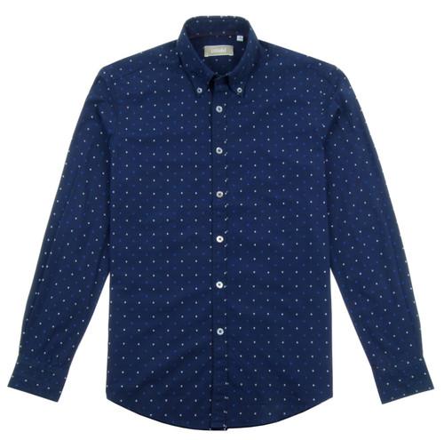 PORFIRIO RUBIROSA Blue Casual Shirt