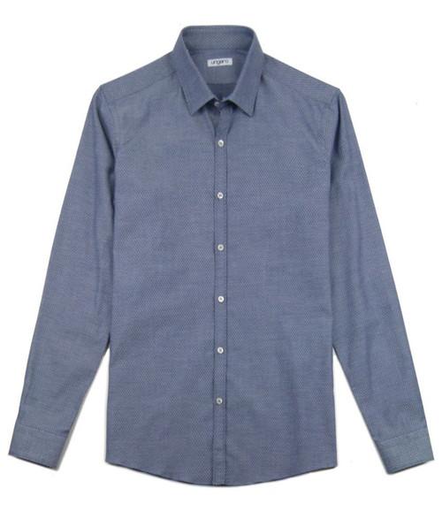 UNGARO Textured Blue Shirt