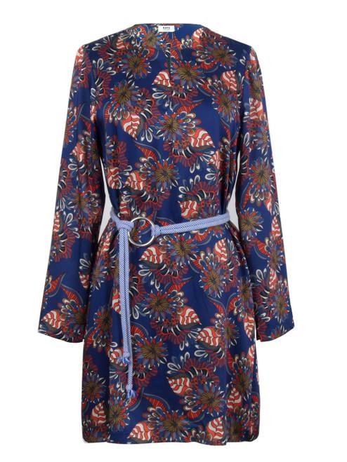KATE By LALTRAMODA Patterned Long Sleeve Dress