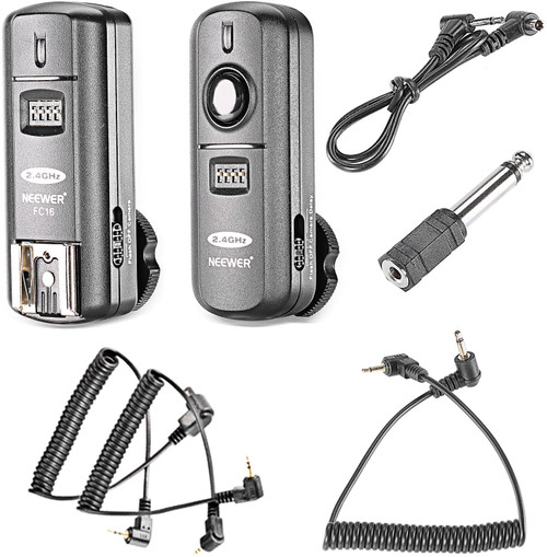 Neewer FC-16 Multi-Channel 2.4GHz 3-IN-1 Wireless Flash/Studio Flash Trigger with Remote Shutter for Canon Rebel