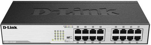 D-Link DGS-1016D 16-Port Green Ethernet Copper Gigabit Switch, Hub, Internet Splitter,