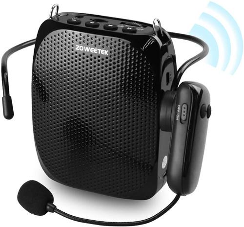 ZOWEETEK Voice Amplifier with UHF Wireless Microphone Headset