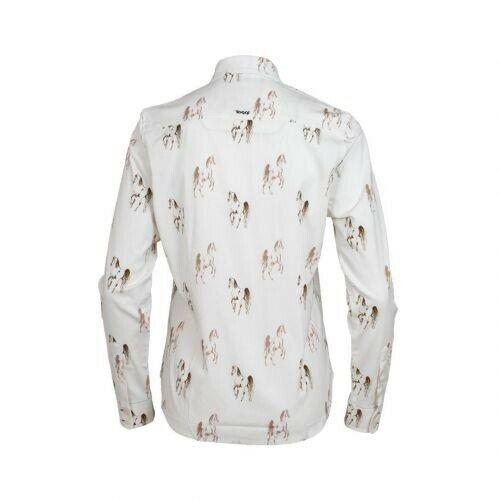 Toggi Lambley Horse Print Shirt, Tan, Size 20