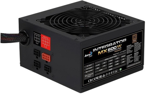 Aerocool Integrator MX 600W 80 PLUS Silver Semi-Modular PSU Power Supply