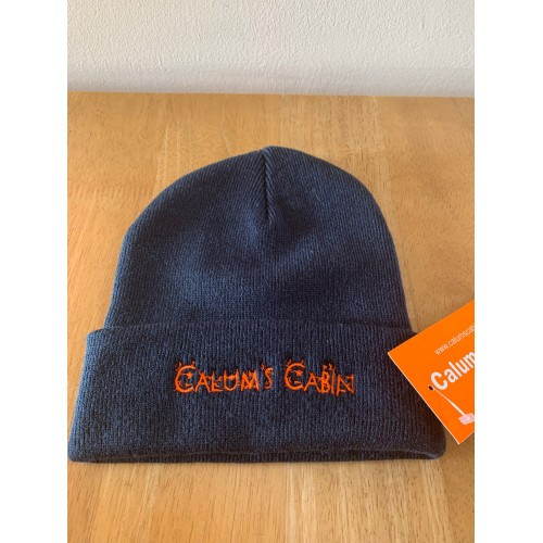 Calums Cabin Navy Beanie Hat - One Size
