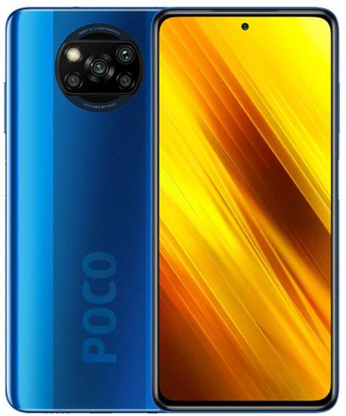 Xiaomi Poco X3 NFC, Sim Free Smartphone, UK Version - Cobalt Blue (EU plug)