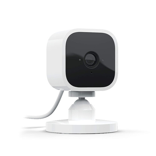 Blink Mini | Compact indoor plug-in smart security camera, 1080p HD video, motion detection, Works with Alexa | 1 Camera