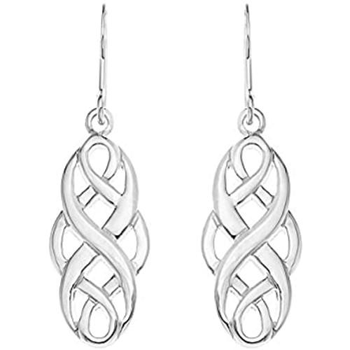 Sterling Silver Celtic Knot Twist Dangle Drop