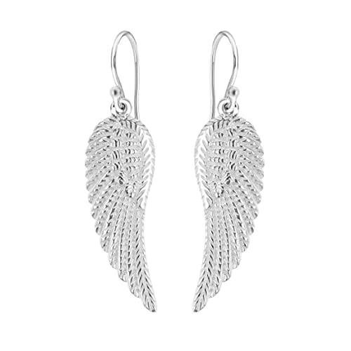 Tuscany Silver Sterling Silver Angel Wing Drop Earrings
