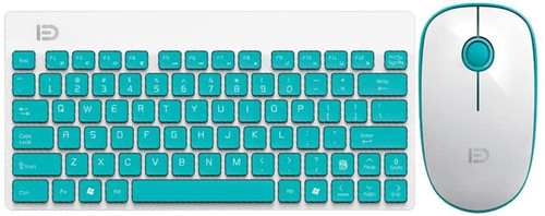 Wireless Keyboard and Mouse Combo - Keyboard and Mouse Included, FD G1500 2.4GHz USB Wireless Keyboard Ultrathin Silent Mouse Kit (Green)