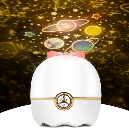 Newthinking Star Projector Night Light, 360° Rotatable Sky Projection Lamp, Sensory Night Light for Bedroom, with 12 Films Rotation Projector Light for Babies Kids and Girls (White)