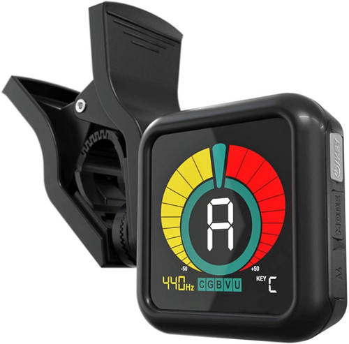 KLIQ UberTuner - Clip-On Tuner for All Instruments - with Guitar, Bass, Violin, Ukulele & Chromatic Tuning Modes…