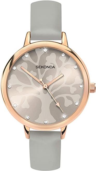SEKONDA Womens Analogue Classic Quartz Watch with PU Strap