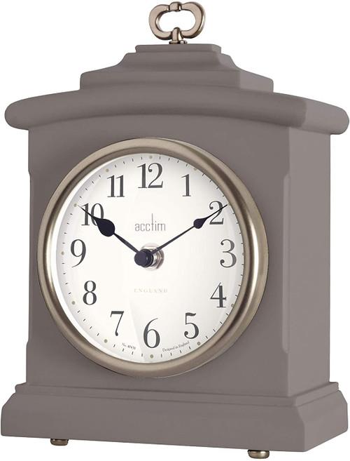Acctim 33856 Heyford Mantle Clock in Warm Grey