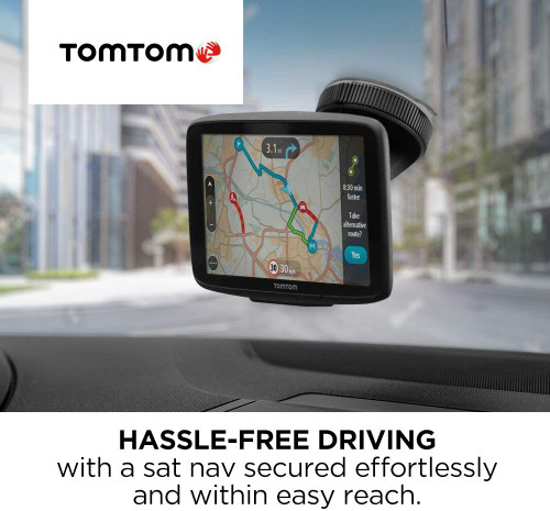 TomTom Sat Nav Windscreen Mount Click & Go plus Car Charger and USB Cable for older TomTom GO and Trucker Models