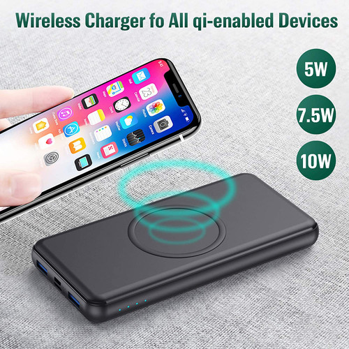 Wireless Power Bank 26800mAh - 10W Wireless Charging+18W PD Fast Charging Feob Portable Charger
