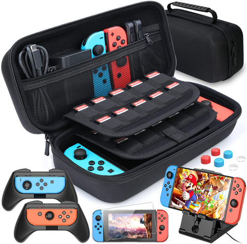 HEYSTOP Case Compatible with Nintendo Switch 11 in 1 Nintendo Switch Carry Case