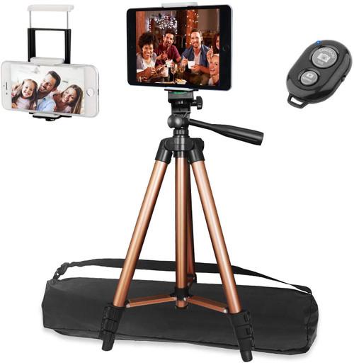 "50"" Ipad Tripod, PEYOU Phone Tripod Stand for Tablet Phones Camera"