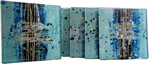 Glass Coasters set of 4 cosmos