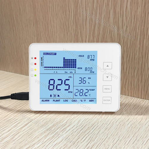 Household Carbon Dioxide Detector SA1200p Digital CO2 Monitor Indoor Air Quality Monitor