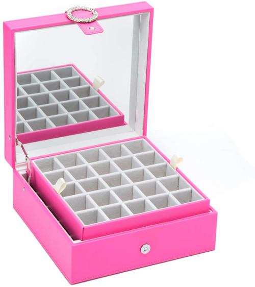 Jackcube Design Leather 45 Slots Earring Organiser Storage Box