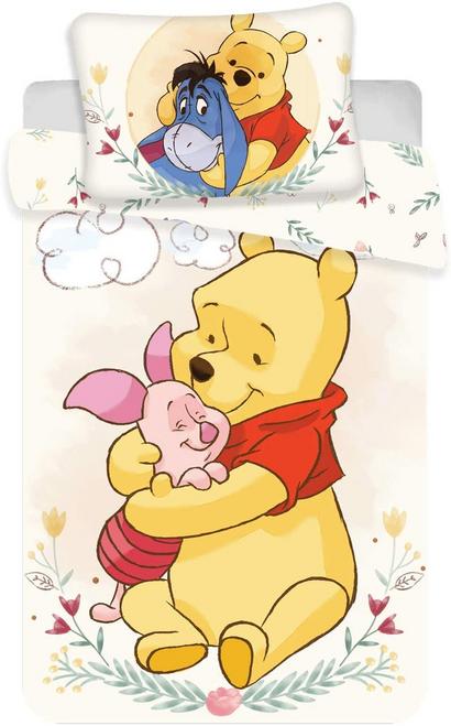 Winnie the Pooh, Baby Bed Duvet Cover Set, Cotton, 100 x 135 cm