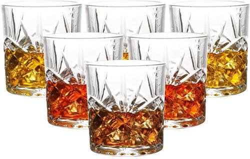 Vinsani 6pc Palacio Whisky Glasses - Crystal Cut