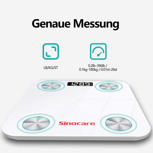 sinocare Body Fat Scales with Body Fat and Muscle Mass