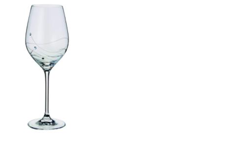 Dartington Crystal ST2557/3/P - Glitz Crystal Wine Glasses, Set of 2 x 330ml - Gift Boxed