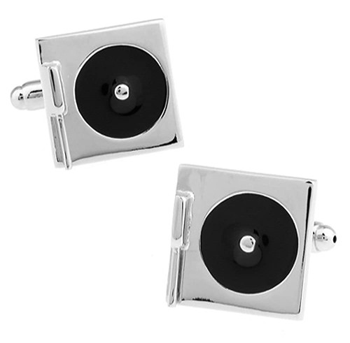 Ashton and Finch Turntable or Record Player Cufflinks
