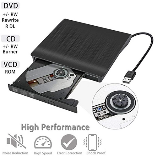 USB Pop-up Mobile External DVD-RW Portable Drive