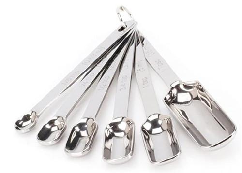 Hihey Measuring Spoon Stainless Steel Set, 6 Measuring Spoons