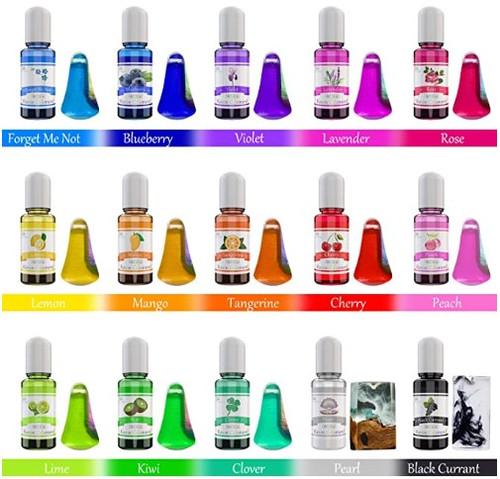 Epoxy Resin Pigment - 15 Colour Liquid Epoxy Resin Dye