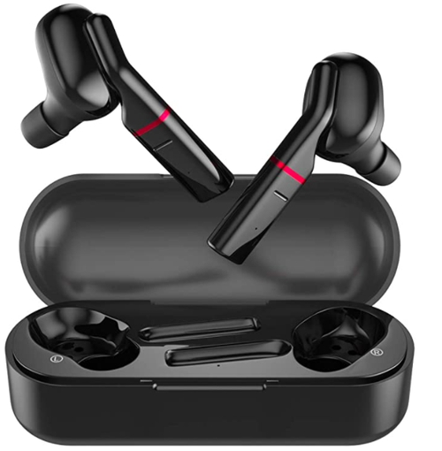 Fisca Bluetooth Headphones, In-Ear Wireless Headphones with CVC 8.0 Noise Isolation, Hi-Fi Stereo TWS True Wireless Headphones, 32H Playtime, Sports Earphones for iPhone and Android