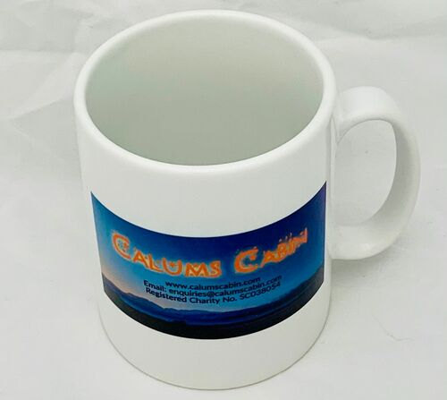Calums Cabin Landscape Logo Mug