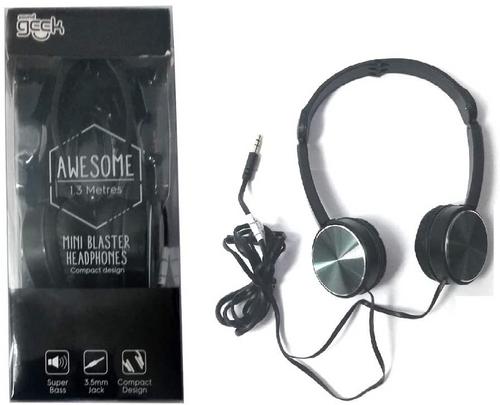Sound Geek Black Foldable Earphones