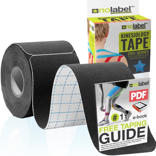 Black Pre Cut Kinesiology Tape