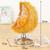 SUNJULY Moon Aromatherapy Lamp, 3D Electric Wax Melt Burners