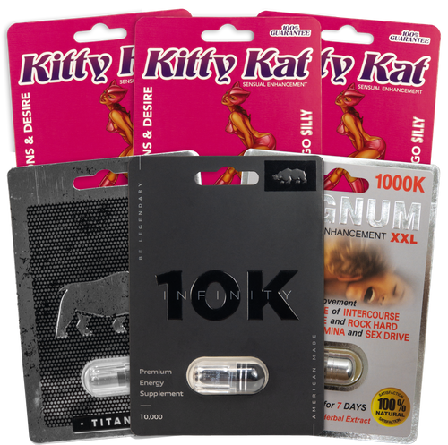Kitty Kat Triple Pack and Titanium 18K and Infinity 10K and Magnum 1000K