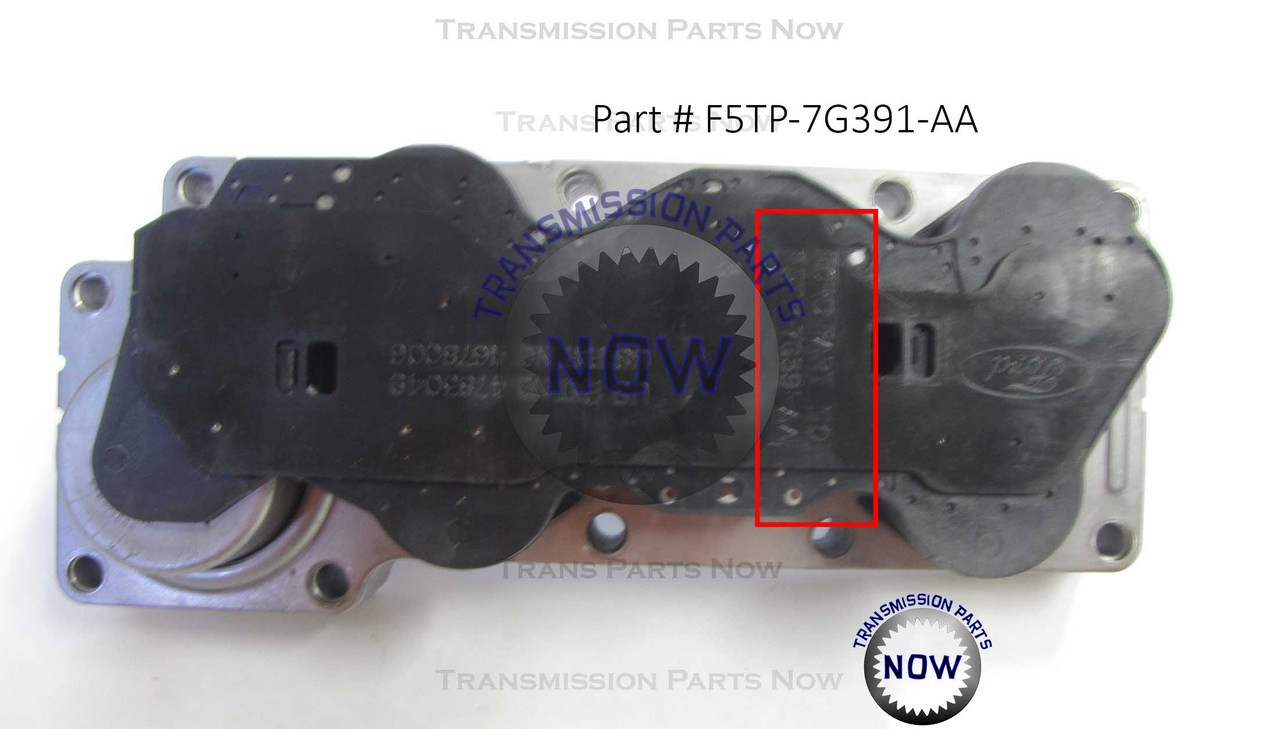 New Ford E4OD 4R100 Solenoid Block, Solenoid Pack, On/OFF lock-up Solenoid ID, Solenoid identification.