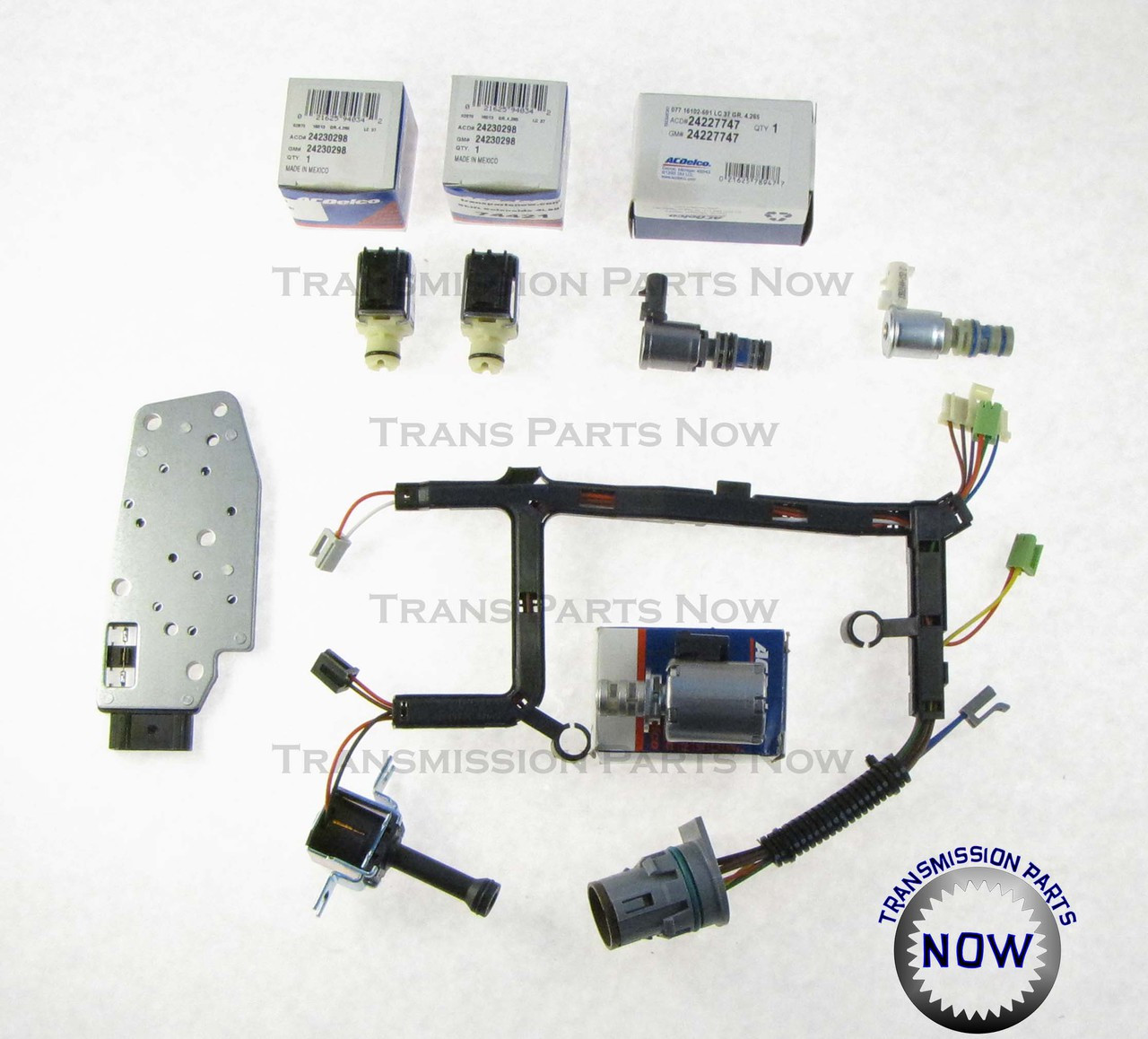 Transmission Solenoid 7Pcs 4L60E 4L65E Shift Solenoid Wire Harness Kit for GM Chevrolet Buick Pontiac Hummer Oldsmobile