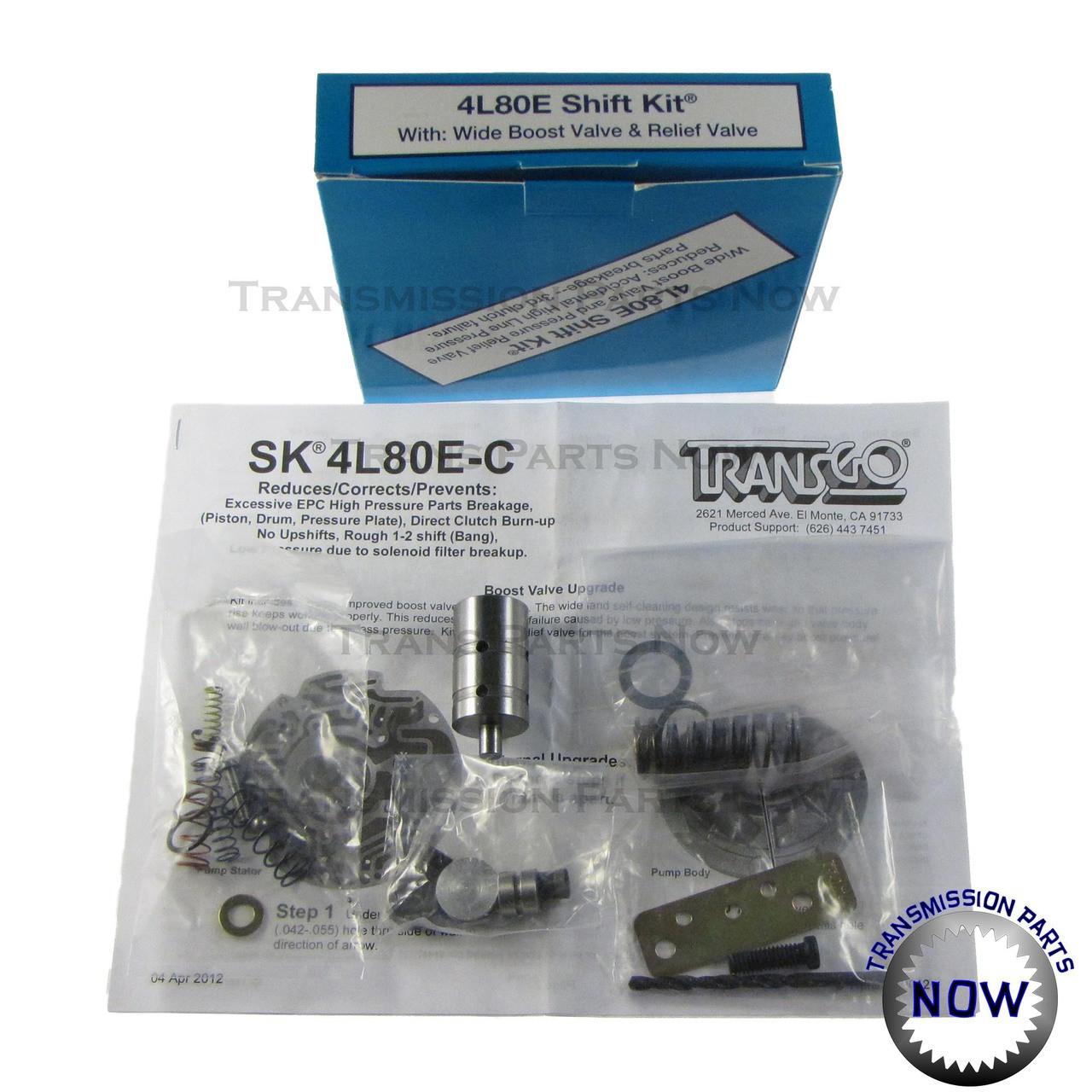 Transmission Parts, Shift Kits, Transgo, valve body, 1500, 2500, Silverado, Sierra, Suburban,  Heavy Duty, Shift upgrades, Sk4L80E, SK4L80, 4L80, 4L80E, 4L85, 4L85E