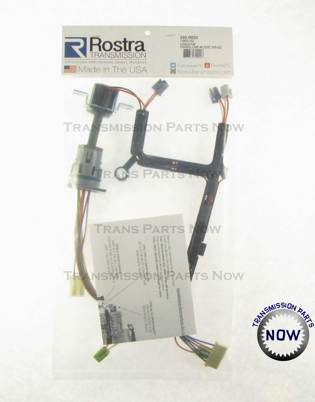 Rostra 350-0020, 51870EC, 12121299, 74425NC, 4L60E internal wire harness, Wire harness, 4l60E transmission parts, 4l60E wire harness, 4l60E TCC solenoid