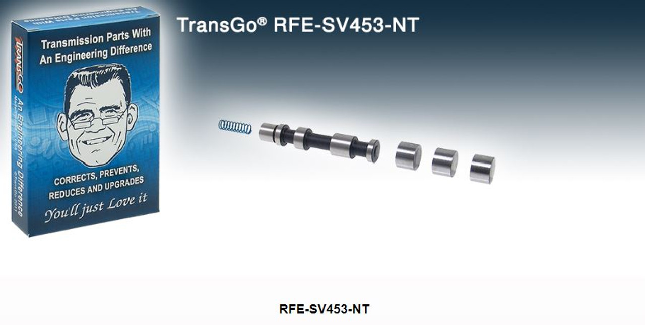 RFE-SV453-NT, Transgo, Shift kit, T72741HAK,  A92741LA, K32885ARF, valve body repair, Switch valve, upgrade