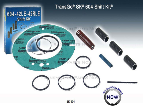 Transgo, T92165, K92908, T92167, 42RLE, A604, SK 604, TRG-SK604, 40TE, 41TE, Dodge, Jeep, transmission parts, transmission repair