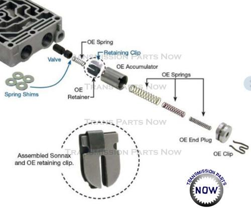3/4 Accumulator Control Valve Sonnax 36948-09K - Transmission Parts NowTransmission Parts Now